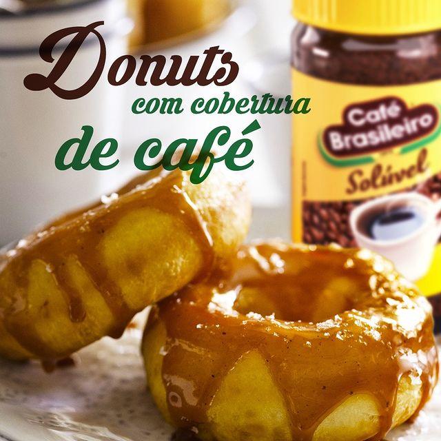 Donuts com Cobertura de Café